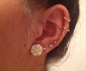 piercing and flower image