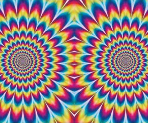 blue, colours, and illusion image