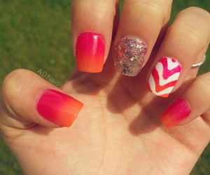 happy, nails, and ombre image