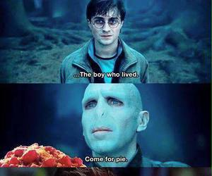 harry potter, pie, and voldemort image