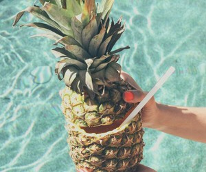 pineapple, summer, and sea image