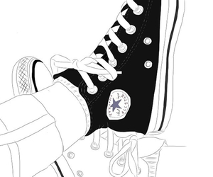 outline, converse, and drawing image