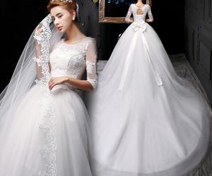 bridal dress and wedding dress image
