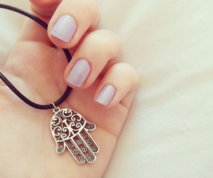 nails, necklace, and hipster image
