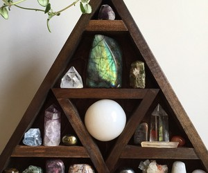 amethyst, shelving, and celestite image
