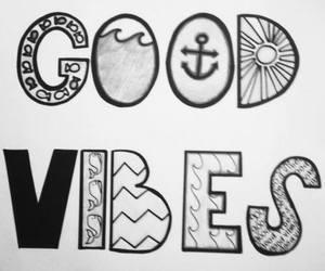 good vibes, drawing, and good image