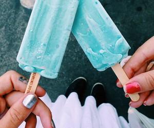 blue, ice cream, and summer image