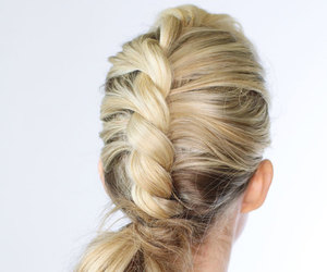 braids, tutorial, and hairstyle image