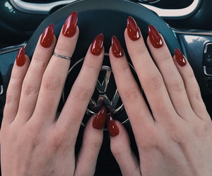 nails, red, and car image