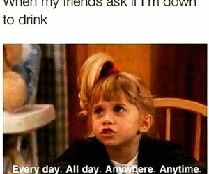 funny, drink, and friends image