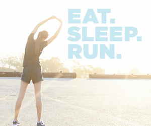 run, sleep, and eat image