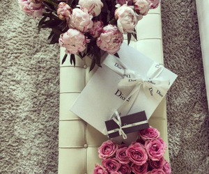 flowers, dior, and love image