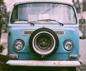 blue, car, and vintage image