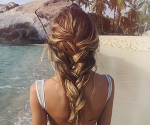 beach, blond, and messy hair image