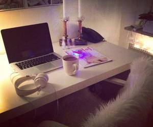 laptop, room, and luxury image