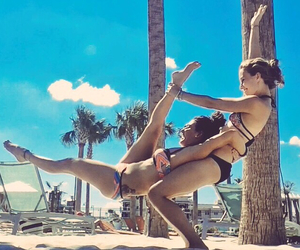 beach, bff, and acro image