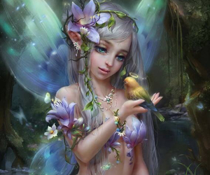 art, faerie, and pastel colors image