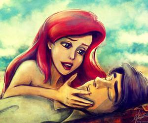 ariel, disney, and love image