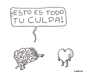 heart, brain, and frases image
