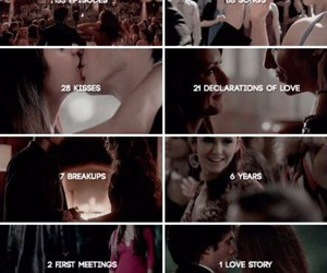 delena, thevampirediaries, and tvd image