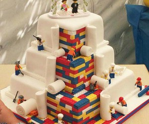 cake, lego, and food image