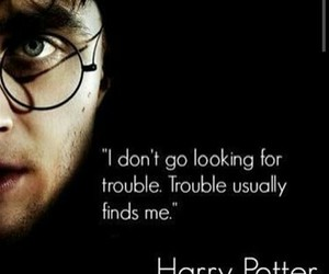 harry potter, quote, and trouble image