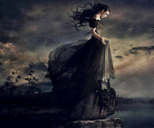 art, edge, and black dress image