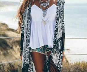 outfit, beach, and girl image