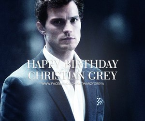 birthday, christian grey, and fifty shades of grey image