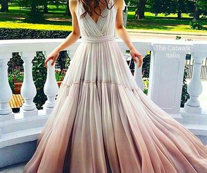 brunette, dress, and luxury image
