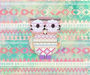 owl, pattern, and art image