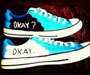 shoes, okay, and blue image