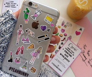 iphone, stickers, and yeah bunny image