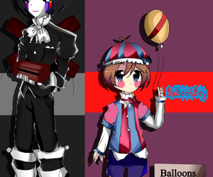 bb, puppet, and five nights at freddy's image