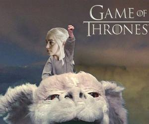 The Neverending Story, game of thrones, and drogon image