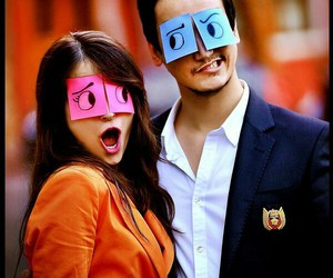 love, couple, and funny image