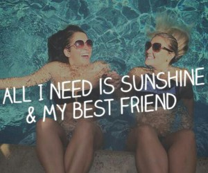 best friend, sunshine, and love image