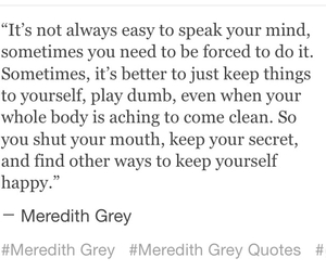meredith grey, quotes, and tv series image