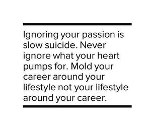 quote, passion, and career image