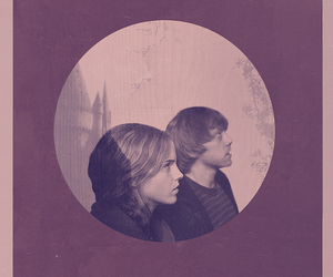 hermione granger, ron weasley, and romione image