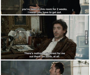 sherlock holmes, jude law, and funny image
