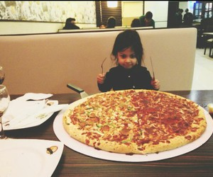 baby and pizza image