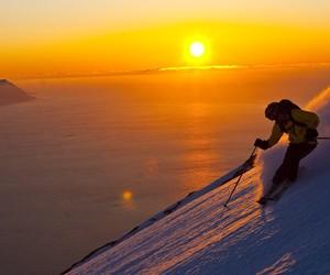 heaven, winter, and ski image