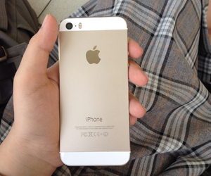 apple, gold, and iphone5s image