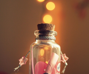 pink, bottle, and heart image