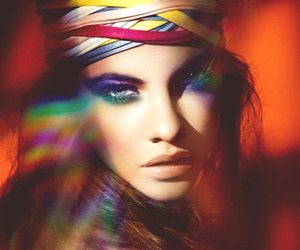 model, barbara palvin, and make up image