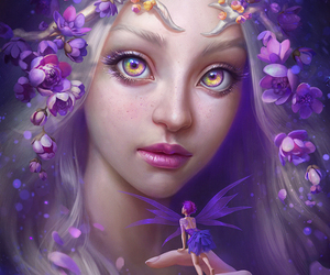 art, fantasy, and fairy image