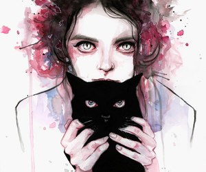cat, art, and drawing image