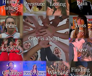 glee, courage, and lea michele image