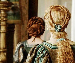 hair, blonde, and the borgias image